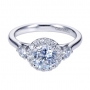 Style ER7482W44JJ 14K White Gold Contemporary Halo Engagement Ring