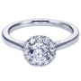 14K White Gold Contemporary Halo Engagement Ring Style ER7497W44JJ