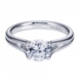 Style ER7516W4JJJ 14K White Gold Contemporary Solitaire Engagement Ring