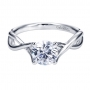 Style ER7517W4JJJ 14K White Gold Contemporary Solitaire Engagement Ring