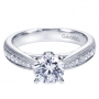 14K White Gold Victorian Straight Engagement Ring Style ER7535W44JJ