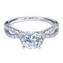 Style ER7544W44JJ 14K White Gold Contemporary Bypass/criss Cross Engagement Ring