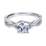 Style ER7546W44JJ 14K White Gold Contemporary Bypass/criss Cross Engagement Ring