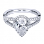 Style ER7543W44JJ 14K White Gold Contemporary Halo Engagement Ring