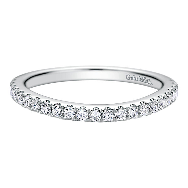 dd5d974d5 ... 14k White Gold Contemporary Style Straight Wedding Band Diamond