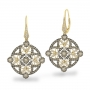 Champage and White Diamond fashion earrings