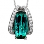 Blue-Green Tourmaline Pendant